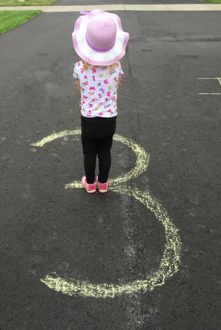 three chalk